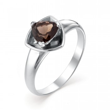 Женское кольцо из серебра с раухтопазом