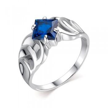 Женское кольцо из серебра с шпинелью сапфир