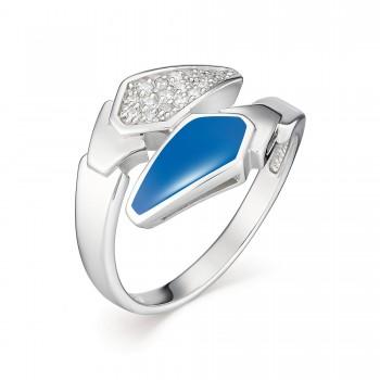 Женское кольцо из серебра с эмалями