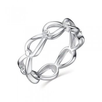 Женское кольцо из серебра с бриллиантами