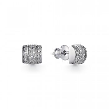 Женские серьги силиконовый из серебра