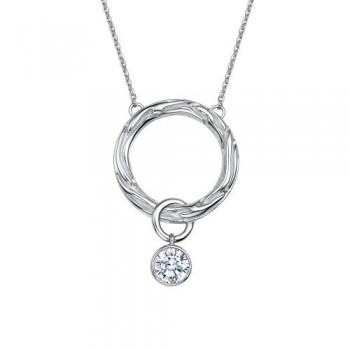 Женское колье из серебра с swarovski gems