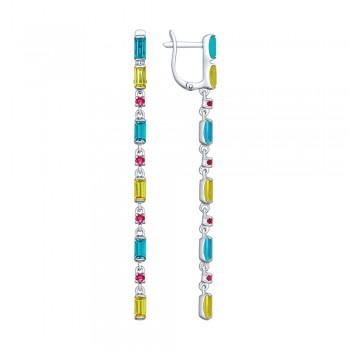 Длинные серьги с кристаллами Swarovski, артикул 94022561