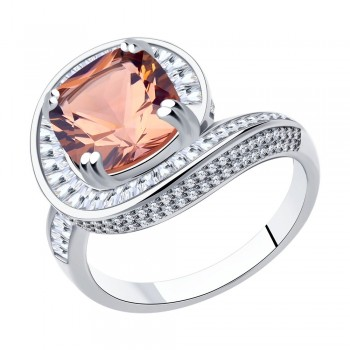 Кольцо из серебра, артикул 94014555