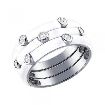 Наборное кольцо с эмалью, артикул 94011147