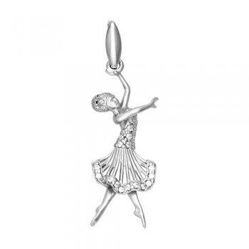 Серебряная подвеска «Балет»