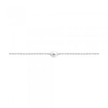Браслет из серебра с жемчугом Swarovski, артикул 94050449