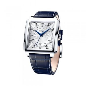 Мужские серебряные часы, артикул 134.30.00.000.08.02.3