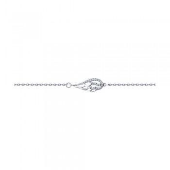 Браслет из серебра с фианитами, артикул 94050513