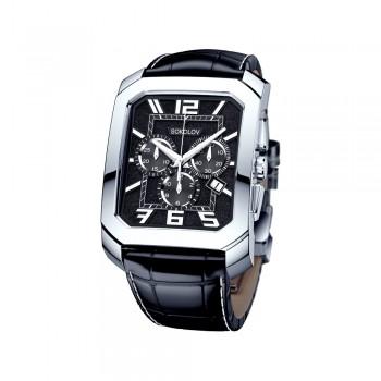 Мужские серебряные часы, артикул 144.30.00.000.07.01.3