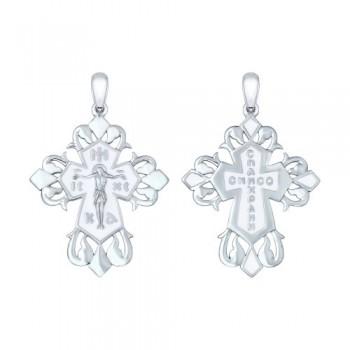 Крест из серебра с эмалью, артикул 94120133