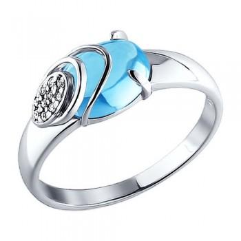 Серебряное кольцо лаконичной формы