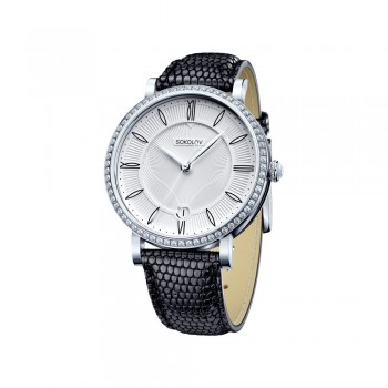 Женские серебряные часы, артикул 102.30.00.001.01.01.2