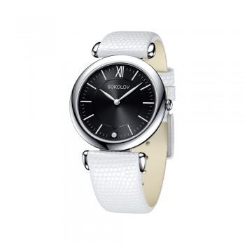 Женские серебряные часы, артикул 105.30.00.000.02.02.2