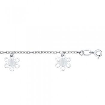 Браслет из серебра с алмазной гранью, артикул 94050076