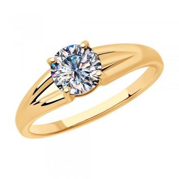 Кольцо из серебра с фианитом, артикул 93010799