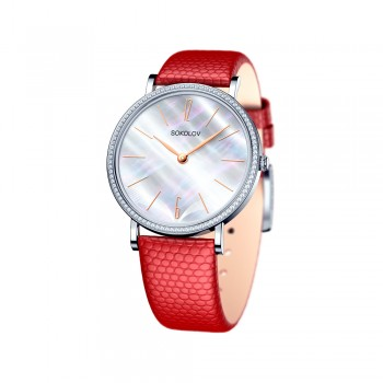 Женские серебряные часы, артикул 153.30.00.001.06.04.2