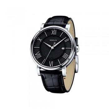 Мужские серебряные часы, артикул 101.30.00.000.02.01.3