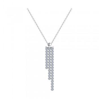 Колье из серебра с фианитами, артикул 94074569