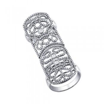 Кольцо на две фаланги из серебра, артикул 94011192