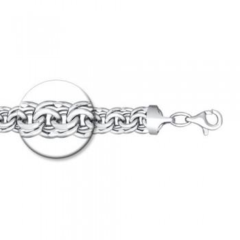 Браслет из серебра с алмазной гранью, артикул 965141504