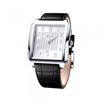 Мужские серебряные часы, артикул 134.30.00.000.03.01.3