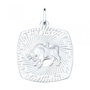 Подвеска «Знак зодиака Телец» из серебра, артикул 94030859