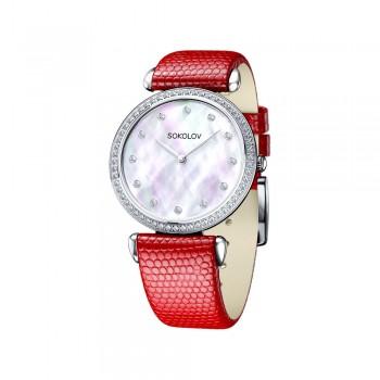 Женские серебряные часы, артикул 106.30.00.001.05.03.2