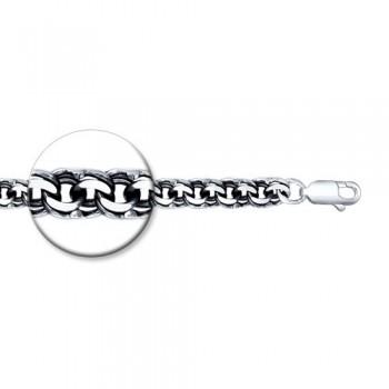 Браслет из серебра с алмазной гранью, артикул 995141204