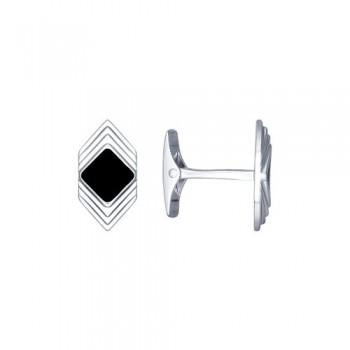 Запонки из серебра с эмалью, артикул 94160051