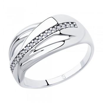 Кольцо из серебра с фианитами, артикул 94012880