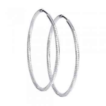 Серьги из серебра с алмазной гранью, артикул 94140082
