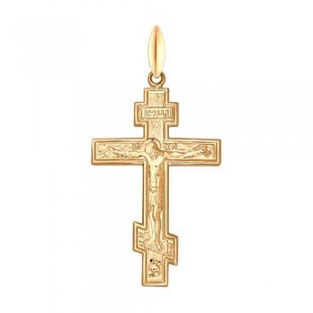 Крест из золочёного серебра, артикул 93120023
