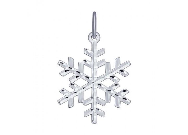 Серебряная подвеска «Снежинка»