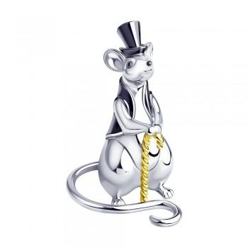 Сувенир «Крыса» из серебра