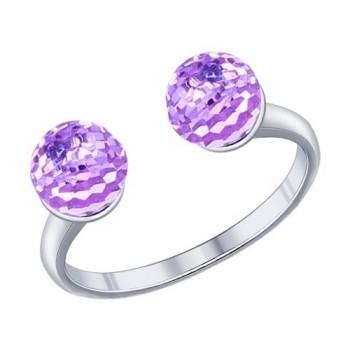 Кольцо из серебра с кристаллами swarovski, артикул 94011791