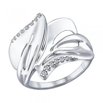 Кольцо из серебра с фианитами, артикул 94011952
