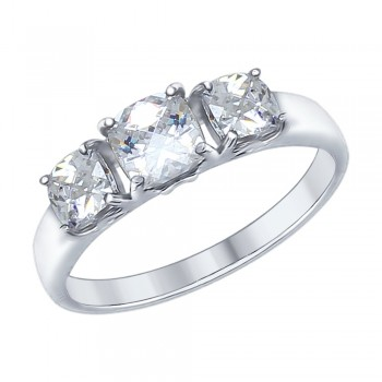 Кольцо из серебра со Swarovski Zirconia, артикул 89010066