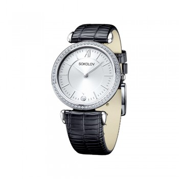Женские серебряные часы, артикул 106.30.00.001.01.01.2