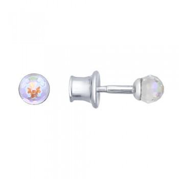Серьги-пусеты из серебра с кристаллами swarovski, артикул 94021821