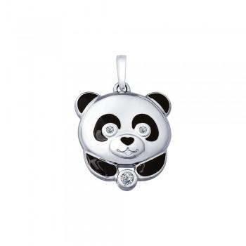 Серебряная подвеска «Панда»