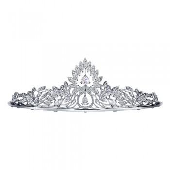 Серебряная корона украшенная фианитами