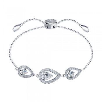 Браслет из серебра с фианитами, артикул 94050534