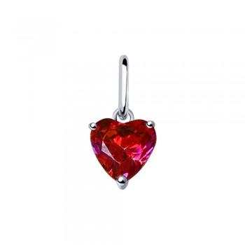 Подвеска из серебра с красным Swarovski Zirconia, артикул 89030041