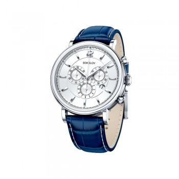 Мужские серебряные часы, артикул 125.30.00.000.03.03.3