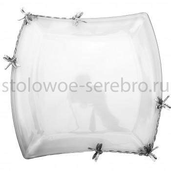 Ваза для фруктов (со стеклом) Raddi  Стрекоза  №4