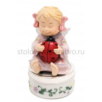 Музыкальная карусель  Ангел счастья  (розовая)