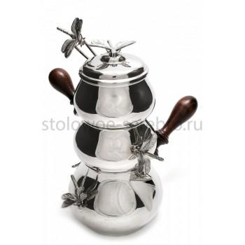 Серебряный набор для кофе Raddi  Стрекоза