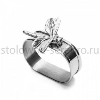 Серебряное кольцо для салфеток Raddi  Стрекоза