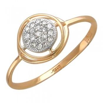 Кольцо из красного золота с 19 бриллиантами весом 0.12 карат